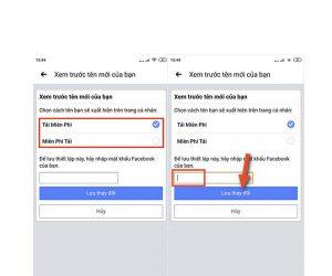 cách đổi tên facebook trên điện thoại android