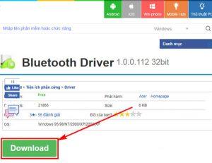 kết nối bluetooth win 7 - phần mềm Bluetooth Driver