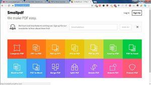 phần mềm ghép file pdf - Small pdf