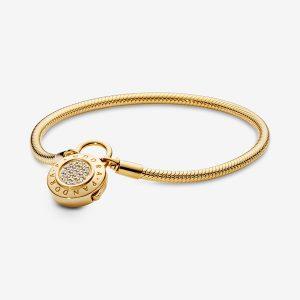 vòng tay pandora - chất liệu vàng